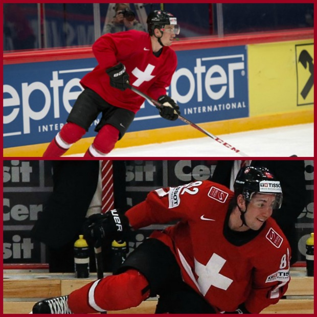 Top: Roman Josi, Bottom: Simon Moser